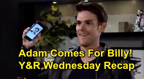 The Young and the Restless Spoilers Recap: Thursday, October 1 - Billy's Story Explodes, Faith Cyber-Bullied - Rey Questions Victor