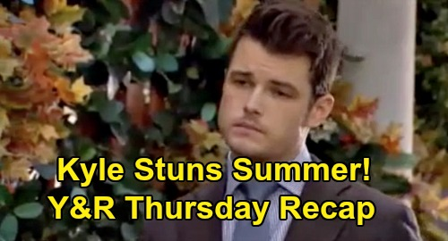 The Young and the Restless Spoilers Recap: Thursday, October 22 - Nate Declares Love For Elena - Kyle Surprises Summer