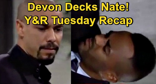 The Young and the Restless Spoilers Recap: Tuesday, October 20 - Elena Confesses, Devon Decks Nate - Gloria's Back - Billy & Lily Grow Closer
