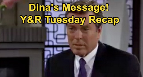 The Young and the Restless Spoilers Recap: Tuesday, September 15 - Amanda's Hilary's Twin - Dina's Message - Victor Needles Kyle