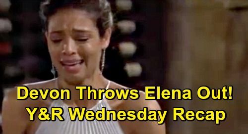 The Young and the Restless Spoilers Recap: Wednesday, October 21 - Nate Suffers Nerve Damage - Devon Throws Elena Out - Faith Sneaks Off Again