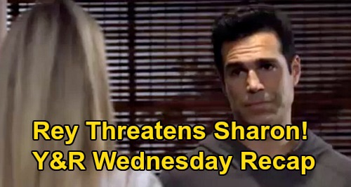 The Young and the Restless Spoilers Recap: Wednesday, September 16 - Rey Issues Sharon a Warning - Elena Shattered by Devon's Words