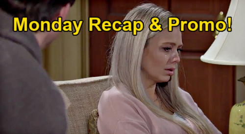 The Young and the Restless Spoilers Recap: Monday, January 18 - Chelsea Despises Sharon - No Babies For Abby - Billy's In Love