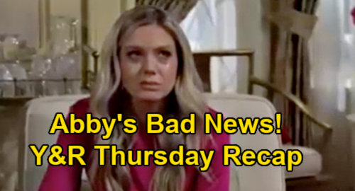 The Young and the Restless Spoilers Recap: Thursday, January 14 - Abby's Bad News - Amanda's Restraining Order - Victoria Schemes