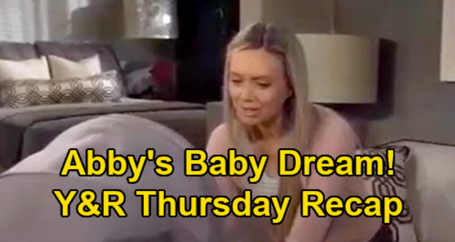 The Young and the Restless Spoilers Recap: Thursday, January 21 - Abby Baby Dream - Victor & Chance Bond - Traci Misses Colleen