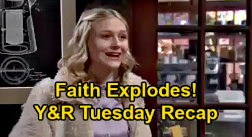 The Young and the Restless Spoilers Recap: Tuesday, January 19 - Faith Explodes - More Bad News For Abby - Devon Asks Amanda Out