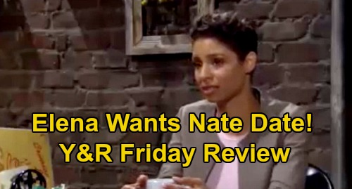 The Young and the Restless Spoilers Review: Friday, November 20 – Elena Wants a Nate Date - Adam Court-Ordered Mental Evaluation