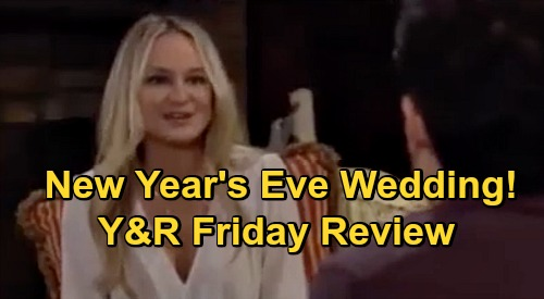 The Young and the Restless Spoilers Review: Friday, October 23 – Sharon & Rey's New Year's Eve Wedding Date – Chelsea's Goodbye to Adam