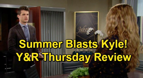 The Young and the Restless Spoilers Review: Thursday, October 22 – Jack's Amazing Gift – Devon Done with Elena – Summer Blasts Kyle