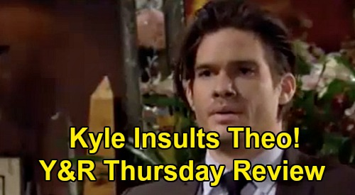 The Young and the Restless Spoilers Review: Thursday, October 29 – Adam 'Dies' & Victor Suffers – Kyle Cruelly Insults Theo