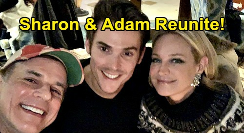 The Young and the Restless Spoilers: Sharon & Adam Reunite – Sharon Case & Mark Grossman Real-Life Couple In New Y&R Episodes?