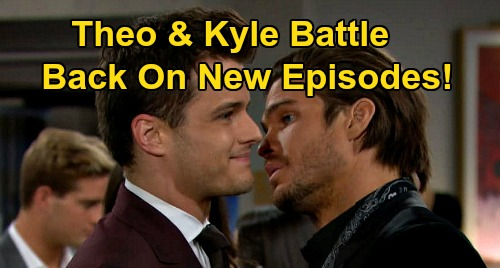 The Young and the Restless Spoilers: Theo & Kyle's Battle Back On – 4 Ways Cousin Feud Reignites on New Y&R Episodes