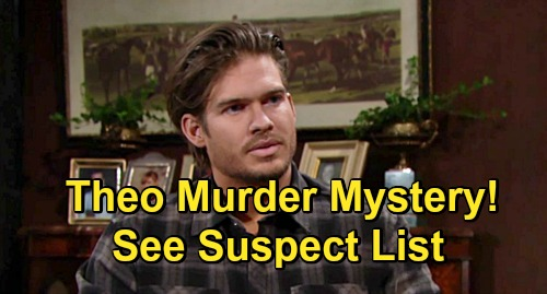 The Young and the Restless Spoilers: Theo Murder Mystery Victim – Killed Off in Shocking Whodunit, See Huge Suspect List?