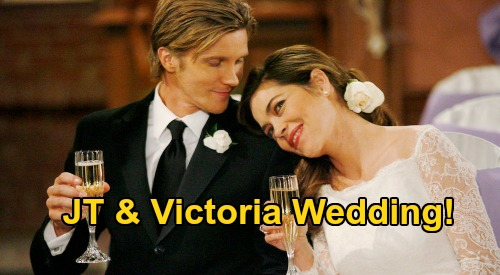 The Young and the Restless Spoilers: Thursday, July 30 - Victoria & JT's Wedding - Gloria & Kevin Scheme To Frame Jeffrey