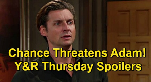 The Young and the Restless Spoilers: Thursday, November 5 – Dina's Will Reading Drama Erupts – Adam Faces Chance's Fierce Threat