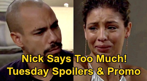 The Young and the Restless Spoilers: Tuesday, October 20 – Nick's News Sets Off Gala Crisis - Elena Tells Devon Horrifying Truth