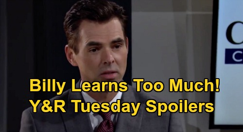The Young and the Restless Spoilers: Tuesday, September 22 – Adam & Victor Exchange Threats – Billy & Amanda Discover Too Much
