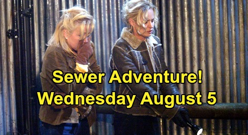 The Young and the Restless Spoilers: Wednesday, August 5 -  Daniel Avoids Phyllis - Sewer Adventure For Nikki, Sharon & Nick