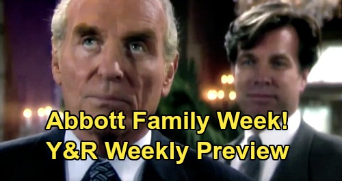 The Young and the Restless Spoilers: Week of June 1 Preview – 'The Abbott Family Week' – Traci & Brad's Wedding – John's Funeral