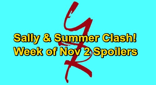 The Young and the Restless Spoilers: Week of November 2 – Dina's Wild Will Reading – Sally & Summer Clash - Rey's on Chelsea Kidnap Case
