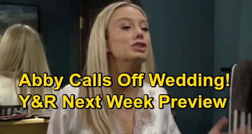 The Young and the Restless Spoilers: Week of November 30 Preview – Abby's Bride Meltdown, Threatens to Call Off Chance Wedding