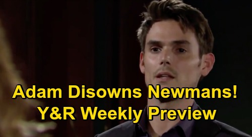 The Young and the Restless Spoilers: Week of October 26 Preview – Adam Disowns Newman Family – Billy & Lily Kiss – Kyle Loses Summer