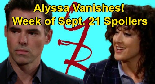 The Young and the Restless Spoilers: Week of September 21 – Alyssa Vanishes, Billy Blames Adam – Summer & Kyle Engagement Outed
