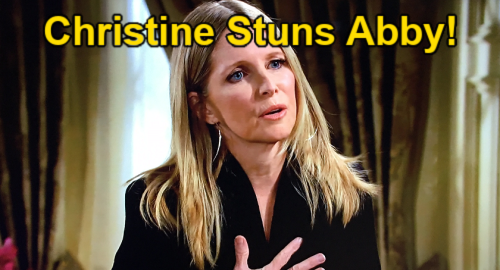 The Young and the Restless Spoilers: Abby's World Crumbles Over Christine's Shocking Chance News