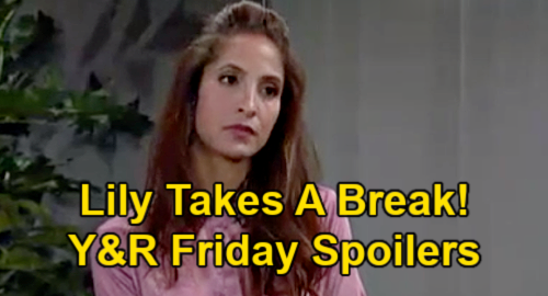 The Young and the Restless Spoilers: Friday, April 2 – Lily Takes a Break – Elena's Decision – Nick & Sharon's Faith Plan