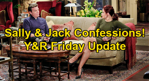 The Young and the Restless Spoilers: Friday, January 29 Update – Jack & Sally Fireside Confessions – Kyle Fears Blackmail