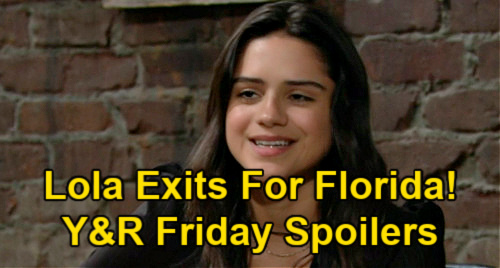The Young and the Restless Spoilers: Friday, May 14 Recap – Lola Leaves for Florida – Adam Vows to Crush Billy – Kyle Sees Harrison