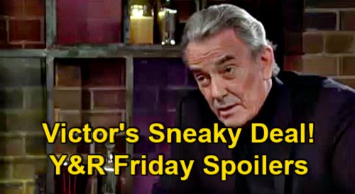 The Young and the Restless Spoilers: Friday, May 7 – Victor's Sneaky Hospital Deal for Adam – Billy & Lily Move In Together