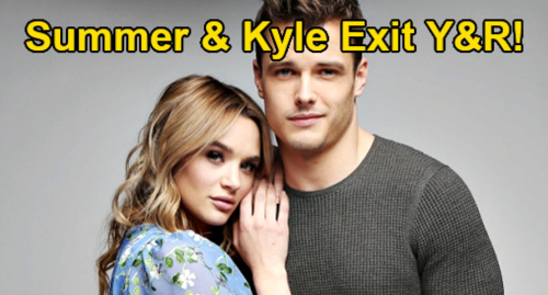The Young and the Restless Spoilers: Hunter King & Michael Mealor OUT at Y&R – Kyle's Exit Follows Summer's in Cast Shakeup