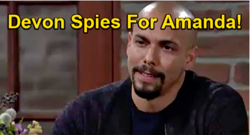 The Young and the Restless Spoilers: Imani & Sutton in Cahoots - Devon Witnesses Duo Conspiring Against Amanda