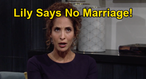 The Young and the Restless Spoilers: Lily Rejects Billy's Marriage Proposal – Doesn't Want Another Wedding After Cane Divorce?