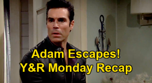 The Young and the Restless Spoilers: Monday, April 12 Recap – Adam Escapes, Rey Blames Sharon –  Chelsea Asks for Rosales
