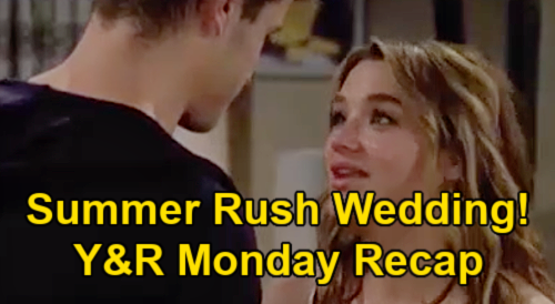 The Young and the Restless Spoilers: Monday, June 7 Recap – Tara Confesses Harrison ER Story – Summer Fast-Tracks Kyle Wedding