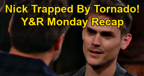 The Young and the Restless Spoilers: Monday, May 3 Recap – Nick & Adam Make Donor Deal, Trapped by Tornado – Faith's Bad Test Results