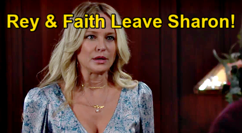 The Young and the Restless Spoilers: Rey Leaves Sharon, Faith Moves To Nick's - Adam's Confidante Alone & Miserable