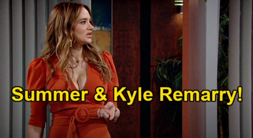 The Young and the Restless Spoilers: Summer Remarries Kyle for Harrison Custody Battle – 'Skyle' Wedding Offers Stable Home?