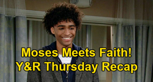 The Young and the Restless Spoilers: Thursday, April 1 Recap – Faith Meets Moses – Phyllis LA Plan for Sally - Adam's Sharon Plea