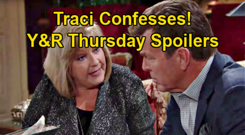 The Young and the Restless Spoilers: Thursday, January 21 – Traci Confesses to Jack – Victoria Jealous of Lily & Katie's Bond
