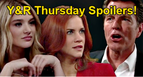 The Young and the Restless Spoilers: Thursday, May 6 – Summer Hits Sally Where It Hurts – Amanda's Secret in Jeopardy