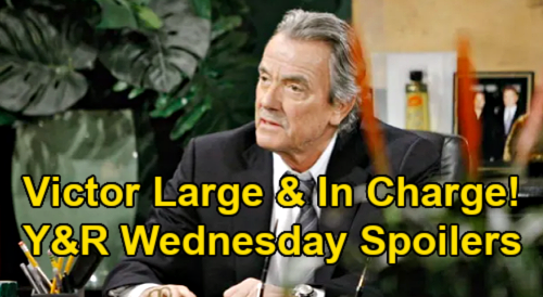 The Young and the Restless Spoilers: Wednesday, March 3 – Victor Large & In Charge – Chelsea Dreams of Adam's Downfall