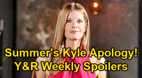 The Young and the Restless Spoilers: Week of August 2 – Summer's Shocking Kyle Apology – Victor's New Partner - Sally's Takedown