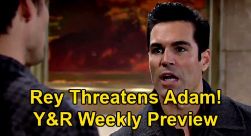 The Young and the Restless Spoilers: Week of February 22 Preview - Rey Confronts Sharon & Threatens Adam Over Kiss Photo