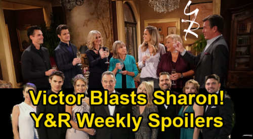 The Young and the Restless Spoilers: Week of January 18 – Sharon Angers Victor – Sneaky Gloria – Chelsea's Setback – Abby's Heartbreak