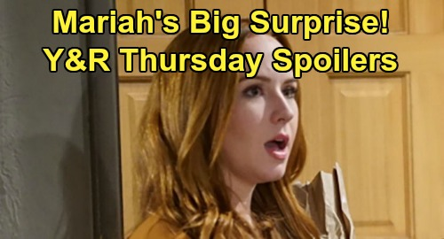 The Young and the Restless Spoilers: Thursday, January 16 – Billy's New Confidant – Mariah's Surprise – Phyllis' Charm Tactics