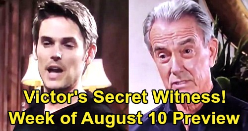The Young and the Restless Spoilers Preview: Week of August 10 – Victor's Secret Witness – Victoria & Billy Blow Up Adam Scandal