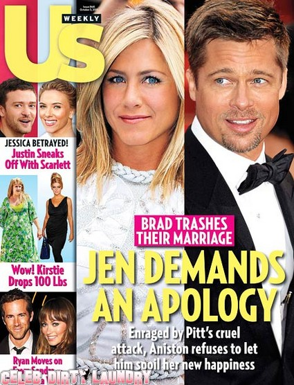 Jennifer Aniston Demands An Apology After Brad Pitt's Attack
